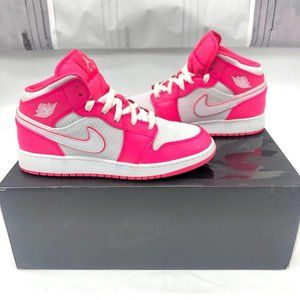 Nike Air Jordan Pink White Mesh High Tops w/Box